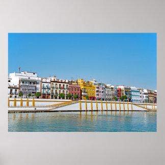 Embankment of the Guadalquivir River in Seville Poster