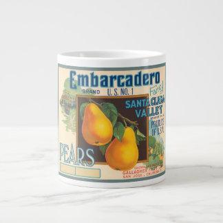Embarcadero Brand Vintage Crate Label Giant Coffee Mug