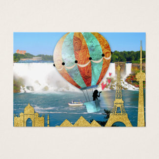Embark on New Adventures Balloon Travel Famous Business Card