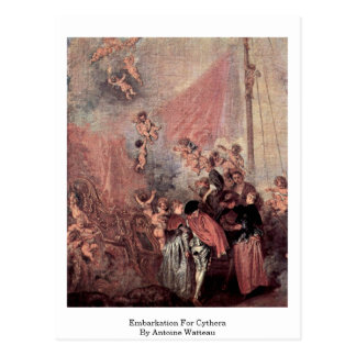 Embarkation For Cythera By Antoine Watteau Postcard