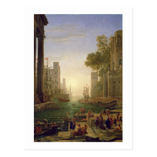 Embarkation of St. Paula Romana at Ostia, 1637-39 Postcard