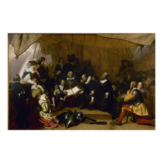 Embarkation of the Pilgrims Poster