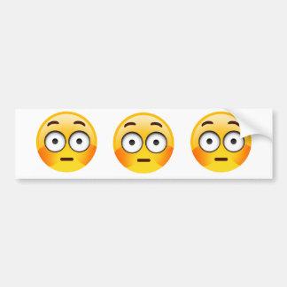 Embarrassed Emoji  with flushed cheeks Bumper Sticker