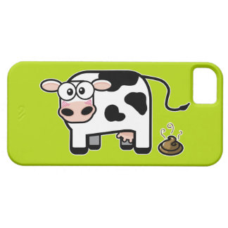 Embarrassed Pooping Cow iPhone 5 Case