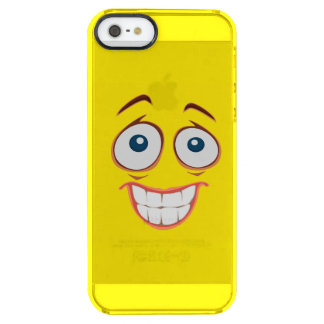 Embarrassed Smiling Yellow Smiley Face Clear iPhone SE/5/5s Case