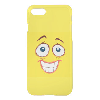 Embarrassed Smiling Yellow Smiley Face iPhone 7 Case
