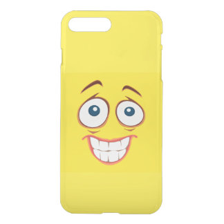 Embarrassed Smiling Yellow Smiley Face iPhone 7 Plus Case