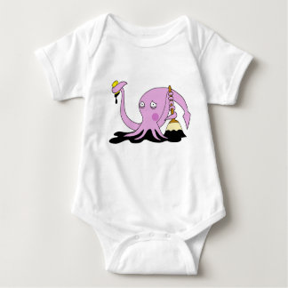 Embarrassed Squid Baby Bodysuit