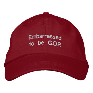 Embarrassed to be G.O.P. - Famous Red Hat Baseball Cap
