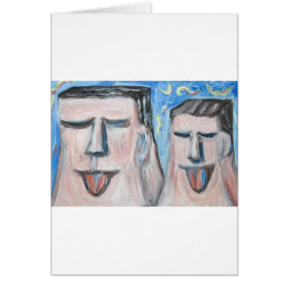 Embarrassing Father and Son ( expressionism) Greeting Card