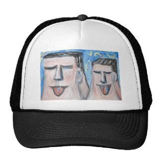 Embarrassing Father and Son ( expressionism) Mesh Hats