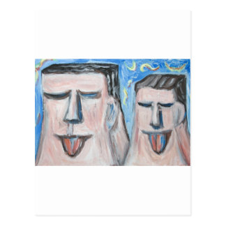 Embarrassing Father and Son ( expressionism) Postcard