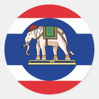 Embassador Thailand, Thailand flag Classic Round Sticker
