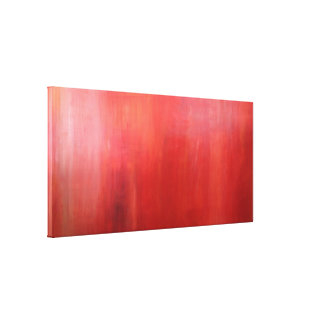 Ember Glow Haze red acrylic painting canvas print
