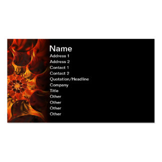 Embers Abstract Digital Fractal Art Business Cards