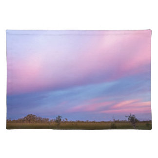 Embers in the Sky over Florida Everglades Placemat