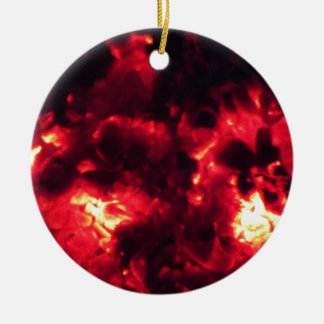 embers round ceramic decoration