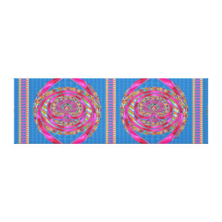 EMBLEM Jewels Purple Ribbons    - Graphic Spectrum Gallery Wrapped Canvas