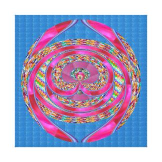 EMBLEM Jewels Purple Ribbons    - Graphic Spectrum Canvas Prints