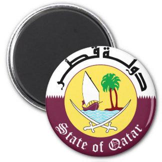 Emblem_of_Qatar 6 Cm Round Magnet