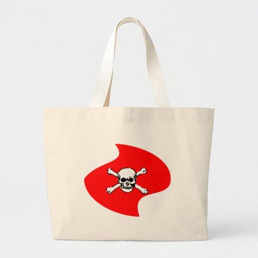 Emblem of skull tote bags