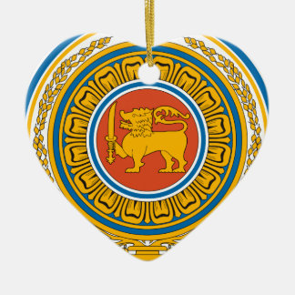 Emblem_of_Sri_Lanka Ceramic Heart Decoration