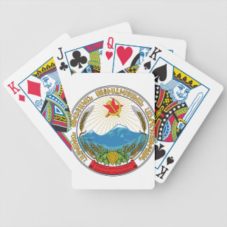 Emblem of the Armenian Soviet Socialist Republic Bicycle Playing Cards