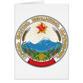 Emblem of the Armenian Soviet Socialist Republic Card