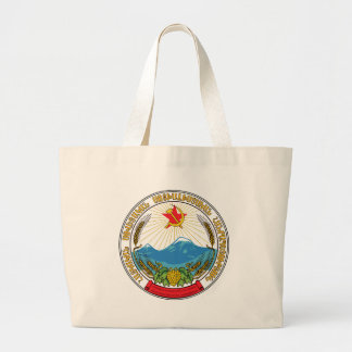 Emblem of the Armenian Soviet Socialist Republic Large Tote Bag