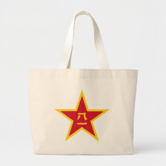 Emblem of the Chinese PLA - 中国人民解放军军徽 Large Tote Bag