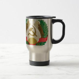 Emblem of the Lithuanian SSR - Lietuvos TSR Herbas Travel Mug