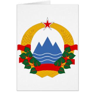Emblem of the Socialist Republic of Slovenia Card