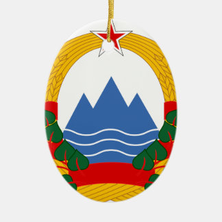 Emblem of the Socialist Republic of Slovenia Ceramic Ornament