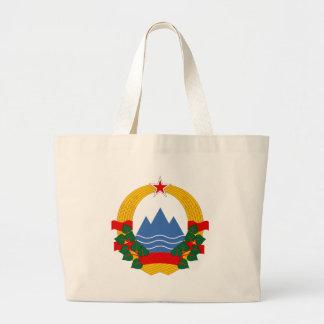 Emblem of the Socialist Republic of Slovenia Large Tote Bag