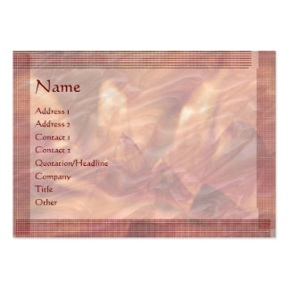Embosed Copper Foil Lotus Leaf : Stylish Border Business Card Templates