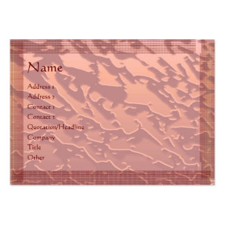 Embosed Copper Galactical Pattern : Stylish Border Business Card Template