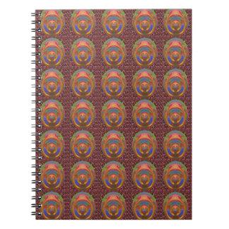 Embossed 3D Emblem Art christmas diwali gifts fun Spiral Note Book