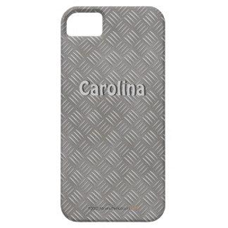 Embossed Aluminum Metal Look Custom Name iphone 5 iPhone 5 Covers