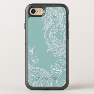 Embossed Boho Teal Paisley OtterBox Symmetry iPhone 8/7 Case