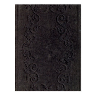 embossed book cover postcard