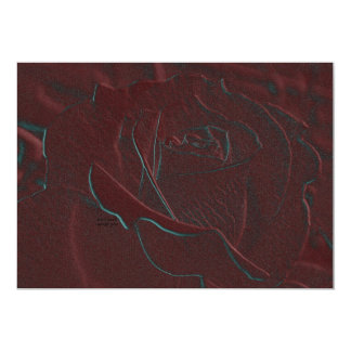 Embossed Burgundy Rose Invitation