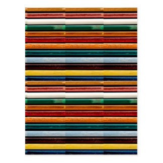 Embossed colorful stripes template add text Image Postcard