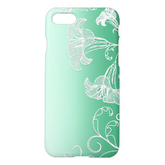 Embossed Day Lilies on Lime Sherbet Background iPhone 7 Case