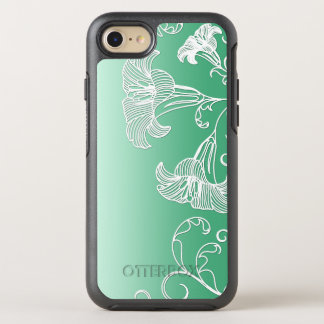 Embossed Day Lilies on Lime Sherbet Background OtterBox Symmetry iPhone 7 Case
