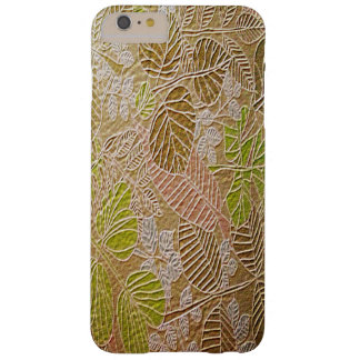 Embossed Golden Leaf iPhone 6 Plus Cases Barely There iPhone 6 Plus Case