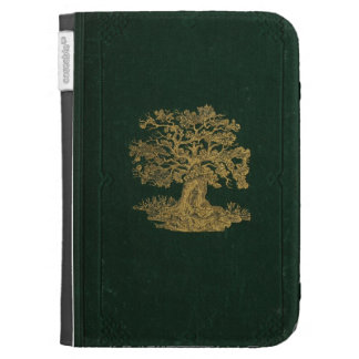 Embossed Golden Tree Book Cover Case For Kindle