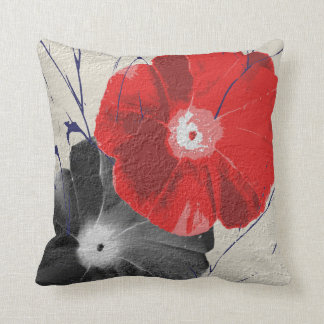 Embossed Japanese Morning Glory Cushion
