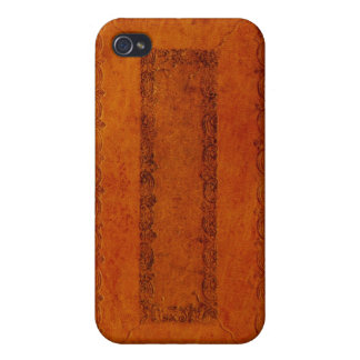 Embossed Leather book cover iPhone 4/4S Cover
