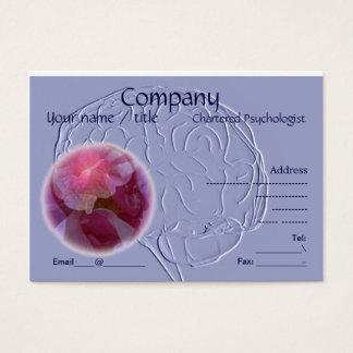 Embossed look brain business card