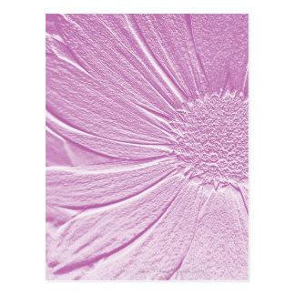 Embossed Look Lavender Flower Postcard